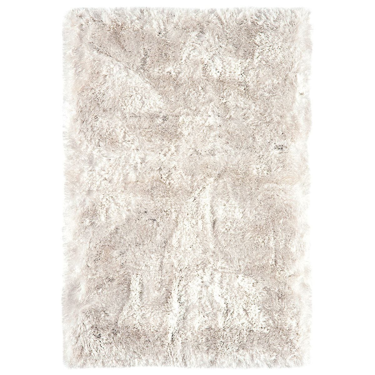 Asiatic Plush Shaggy Rug, 200 x 300cm - White