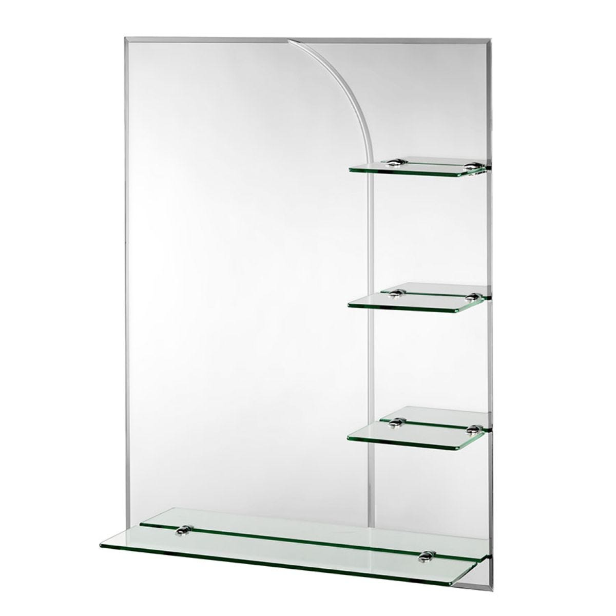 Croydex Bampton Rectangular Mirror with Shelves