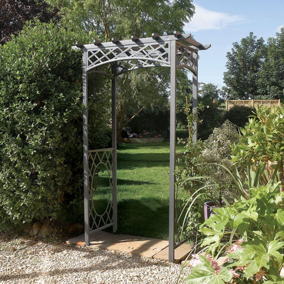 Rowlinson Wrenbury Square Top Metal Garden Arch