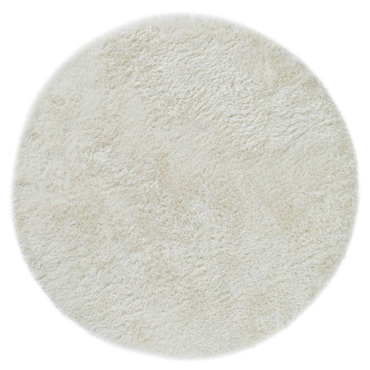 Asiatic Circle Shaggy Rug - White