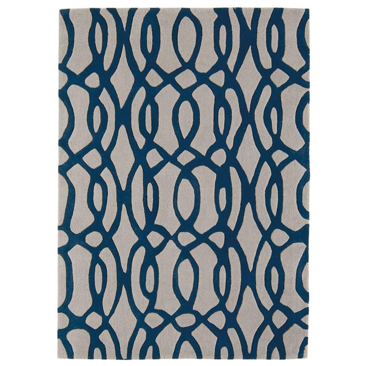 Asiatic Matrix Rug, 120 x 170cm - Blue