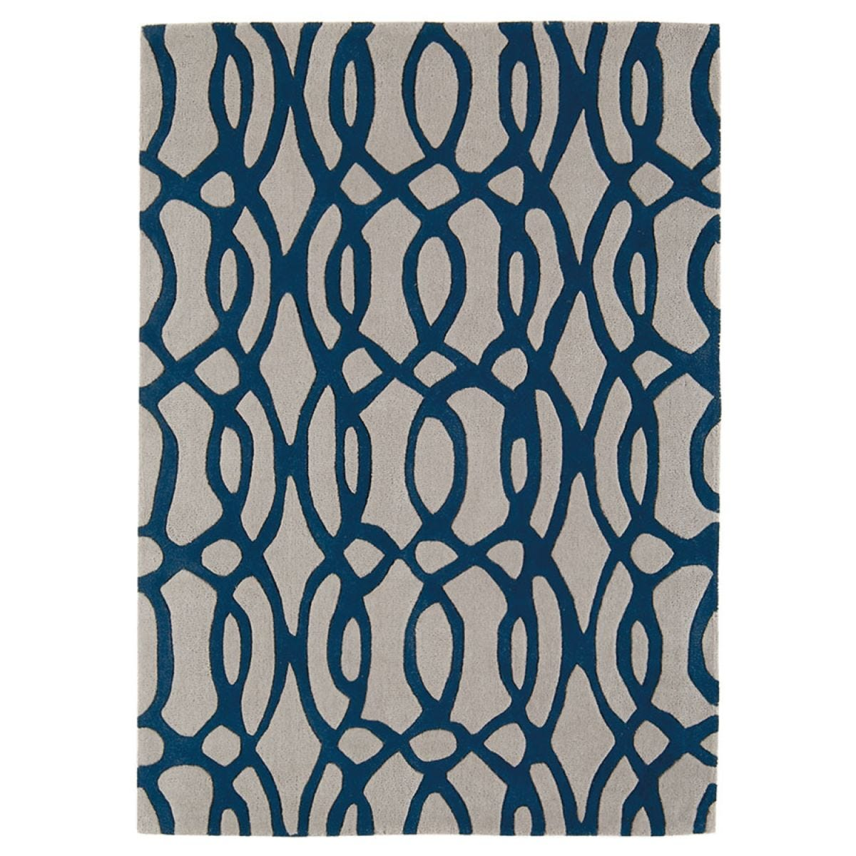 Asiatic Matrix Rug, 160 x 230cm - Blue