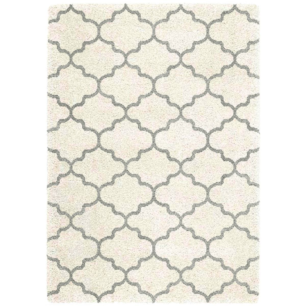 Asiatic Small Logan Ogee Rug - Ivory / Grey