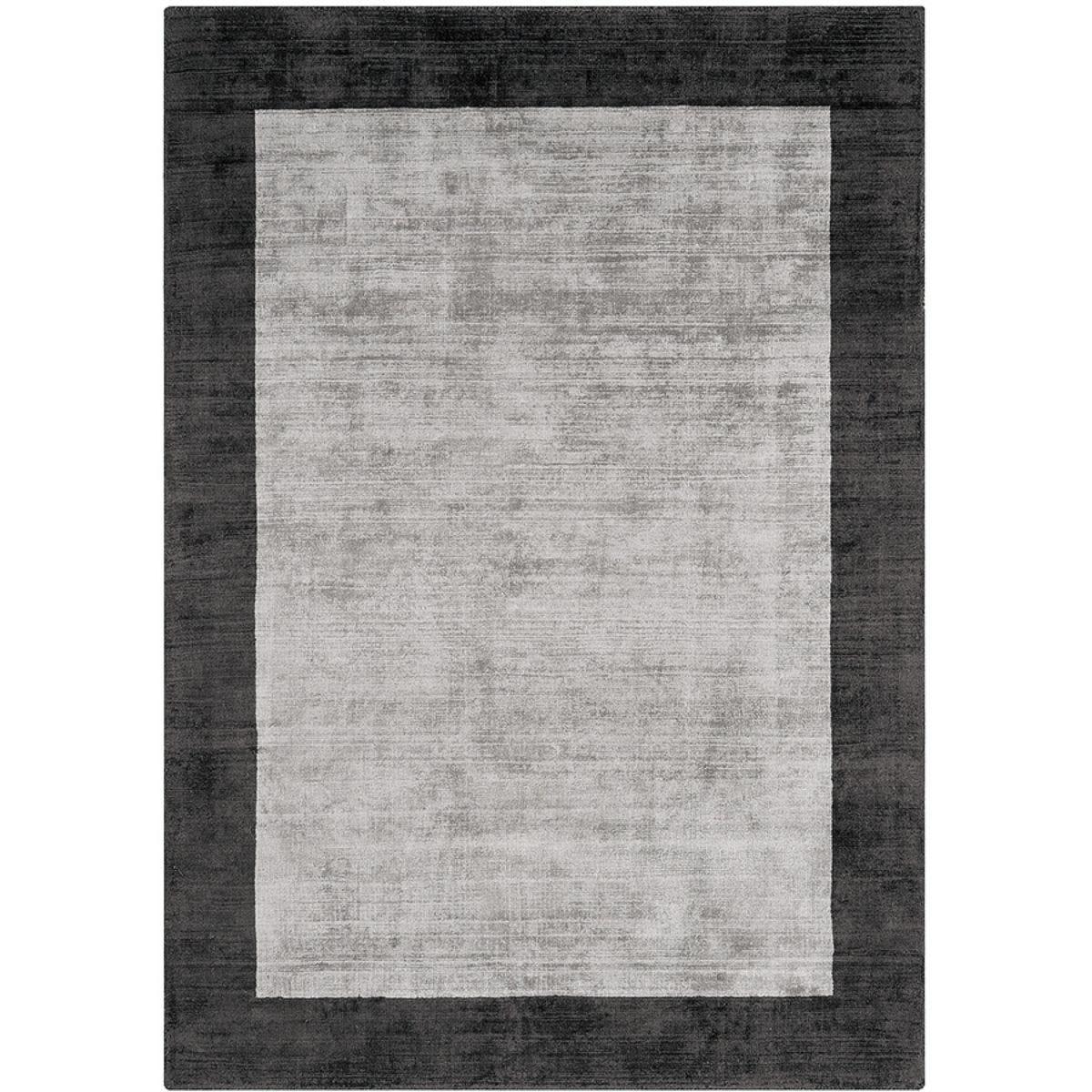 Asiatic Border Rug, 200 x 290cm - Silver