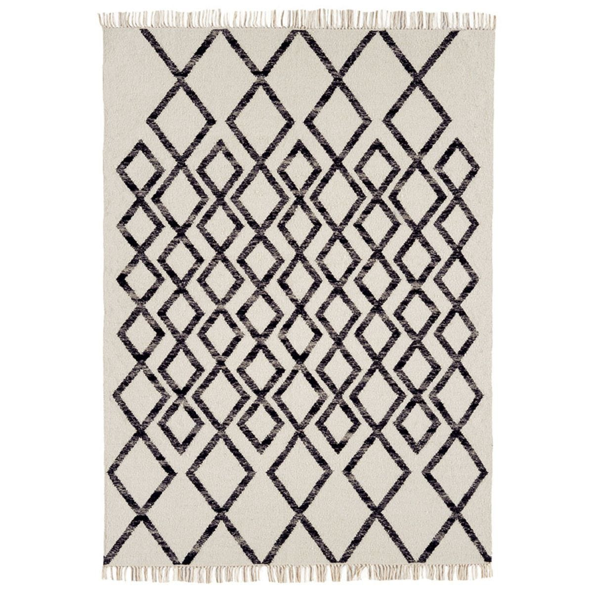 Asiatic Hackney Rug, 160 x 230cm - Black
