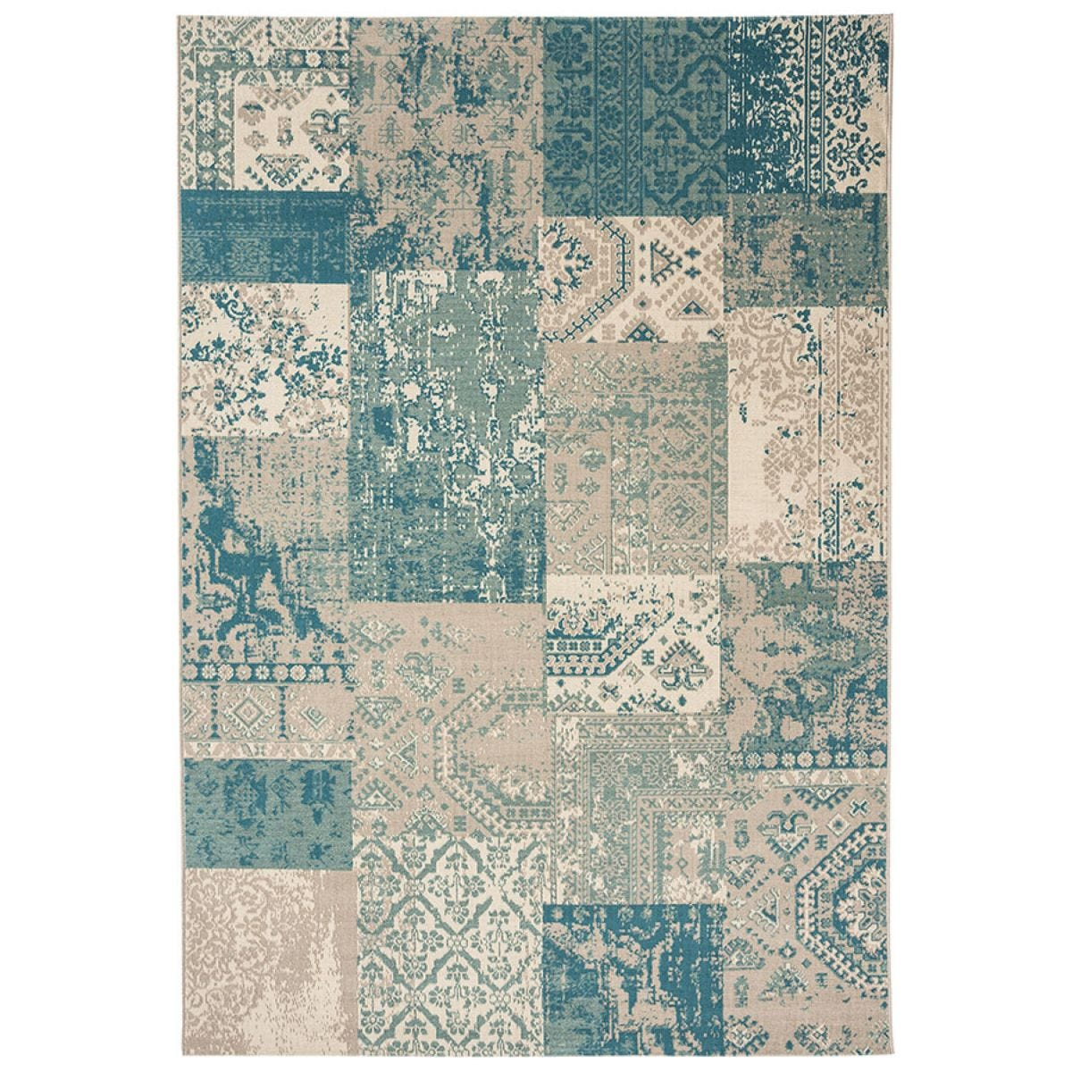 Asiatic Revive Rug - Blue Squares