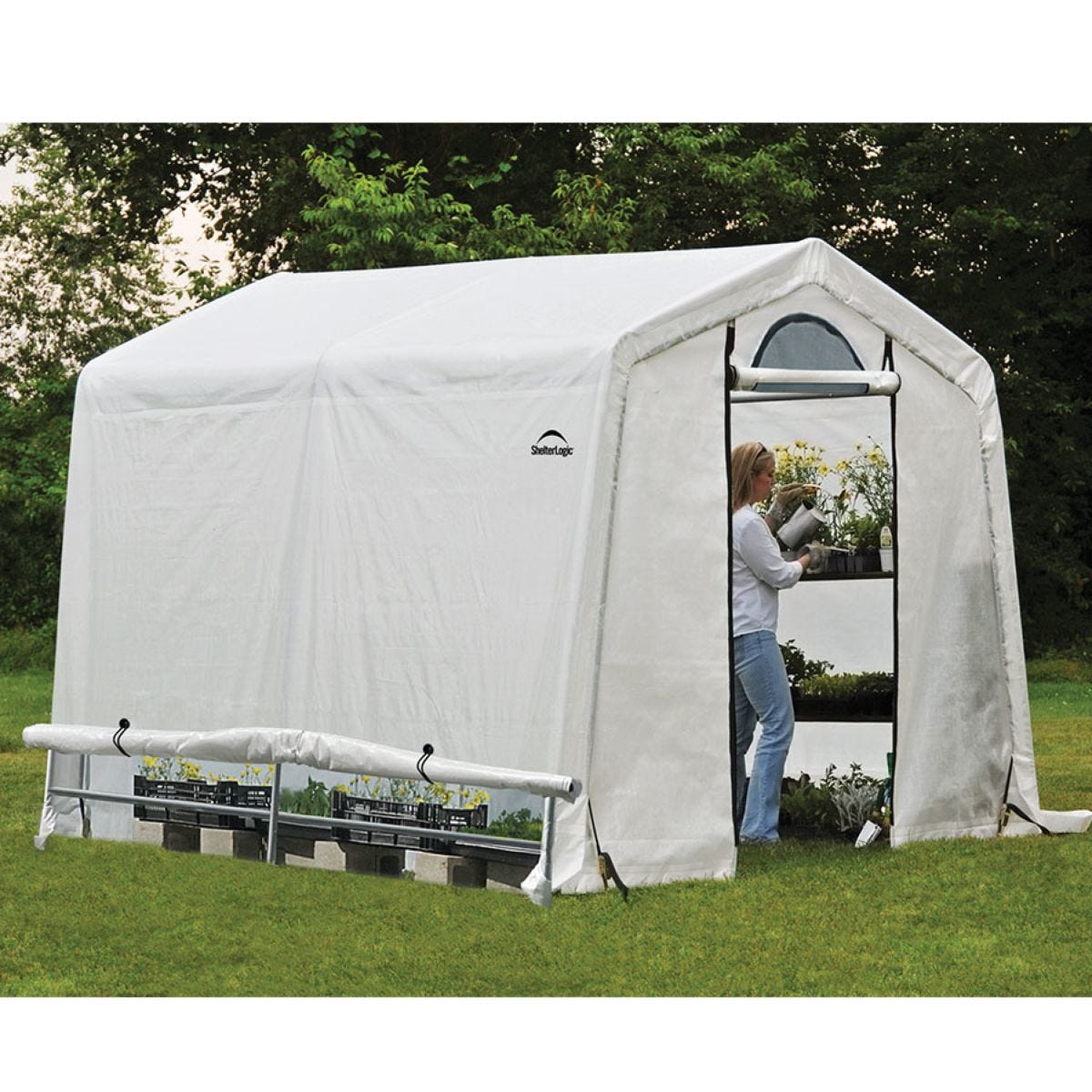 ShelterLogic 8ftx8ft Greenhouse in a Box