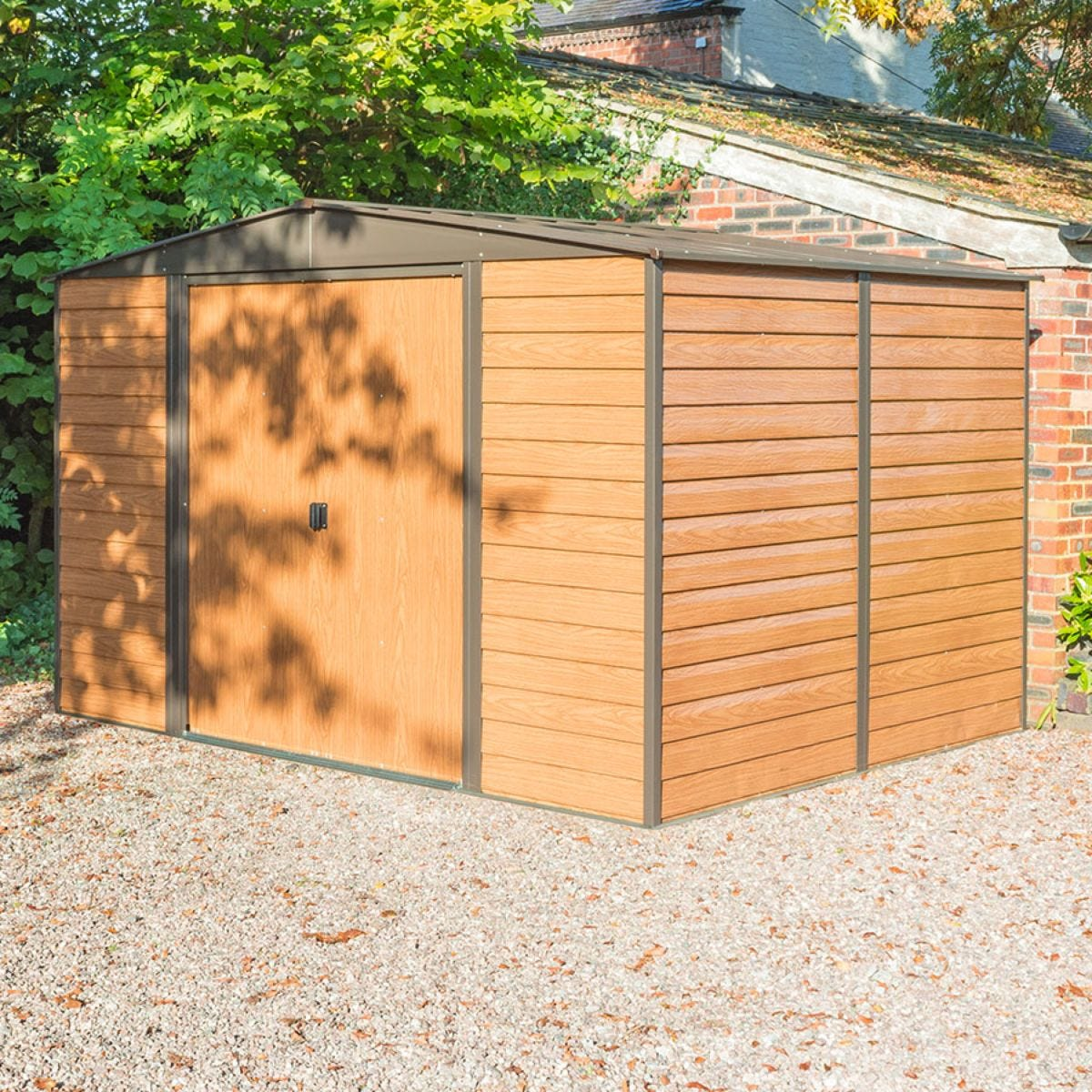Rowlinson Woodvale 10ft x 12ft Metal Apex Garden Shed