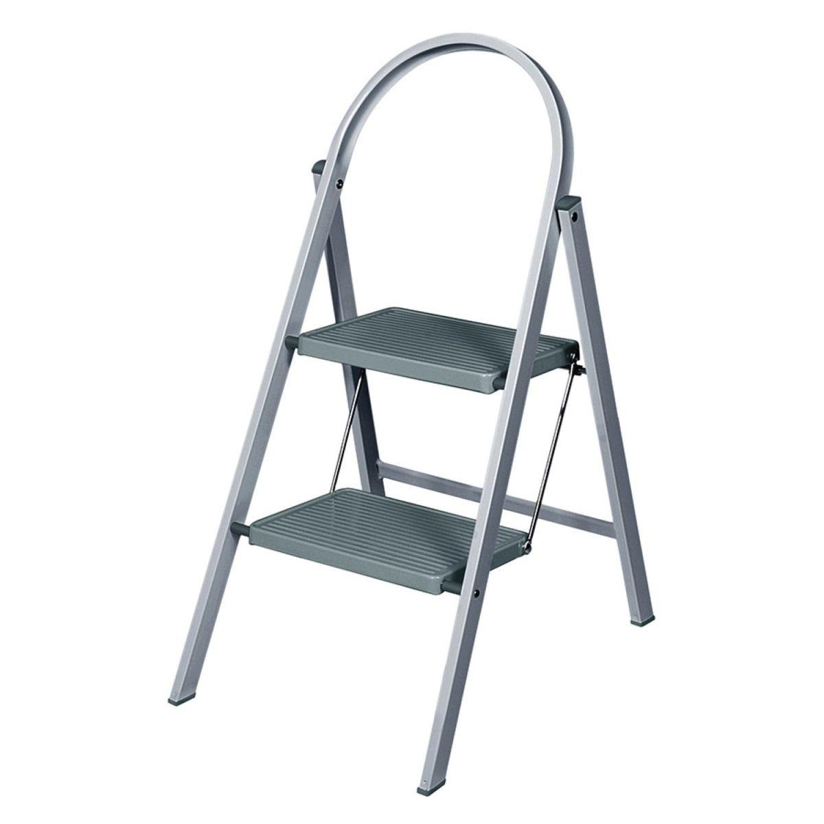 Abru 2-Tread Steel Stepladder - Grey