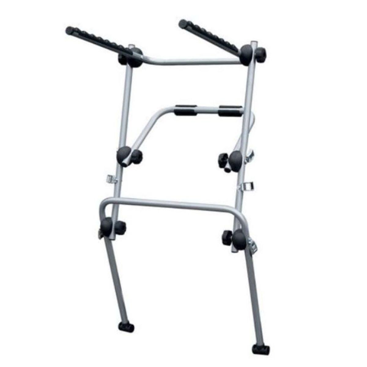 Menabo Main High Rise Rear-Mounted Bike Rack for 3 Bikes – Silver