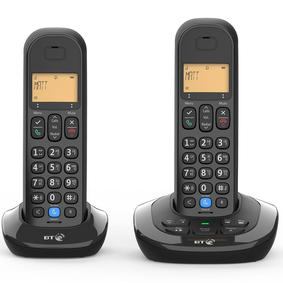 BT 3880 Cordless Home Phone with Nuisance Call Blocking and Answering Machine - Twin