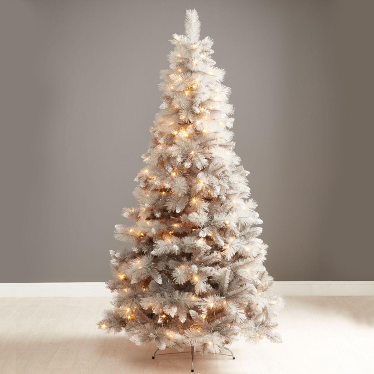 Robert Dyas 7ft Norfolk Grey Shimmer Christmas Tree