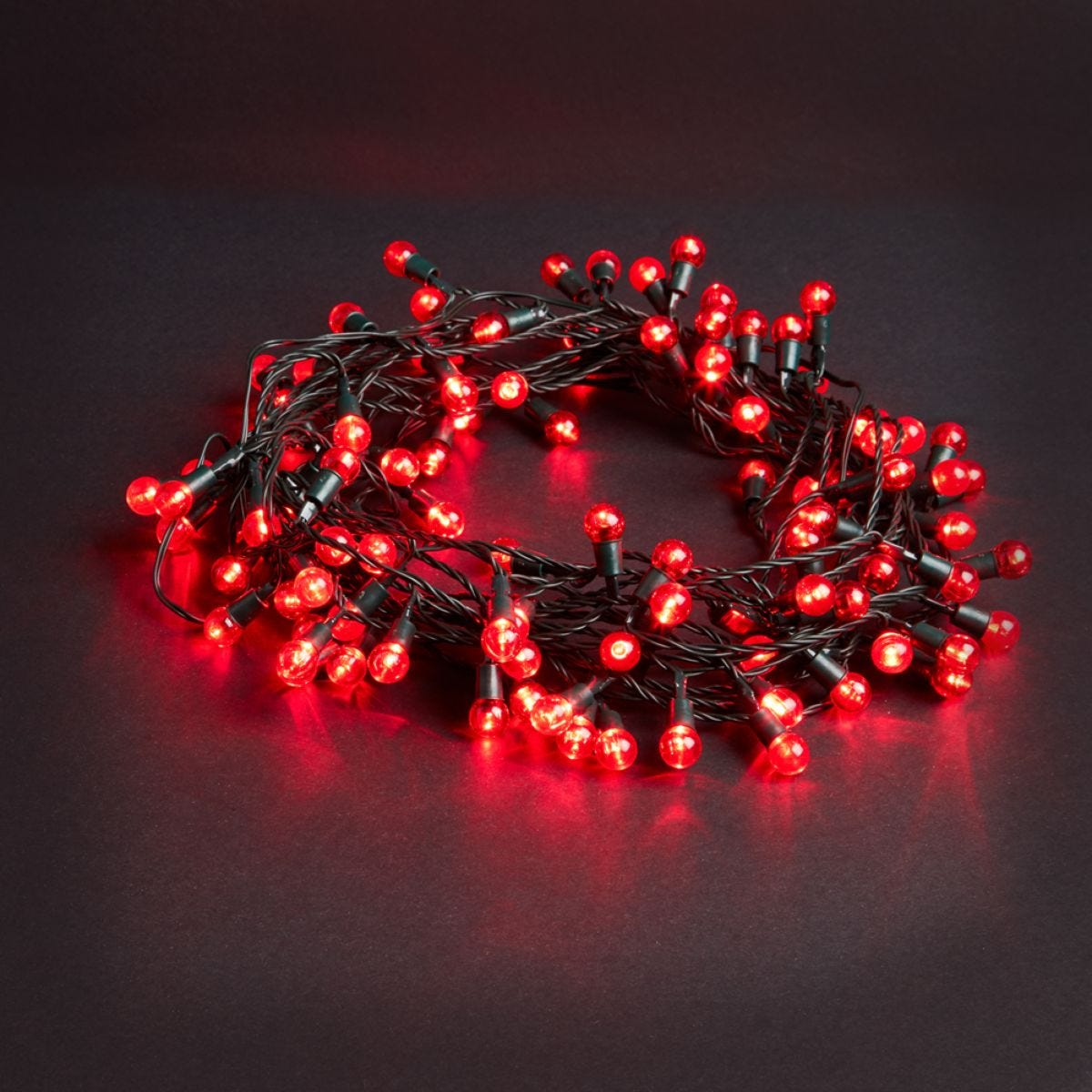 Robert Dyas Mains Operated LED Berry Lights - Red