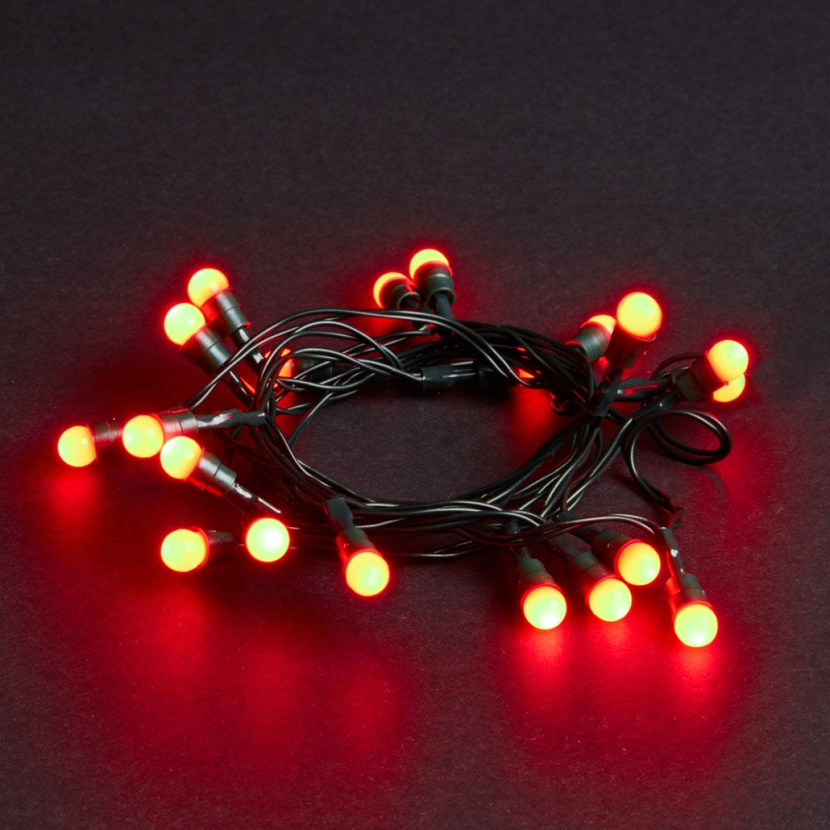 Robert Dyas Battery Operated 20 LED Berry Lights - Red