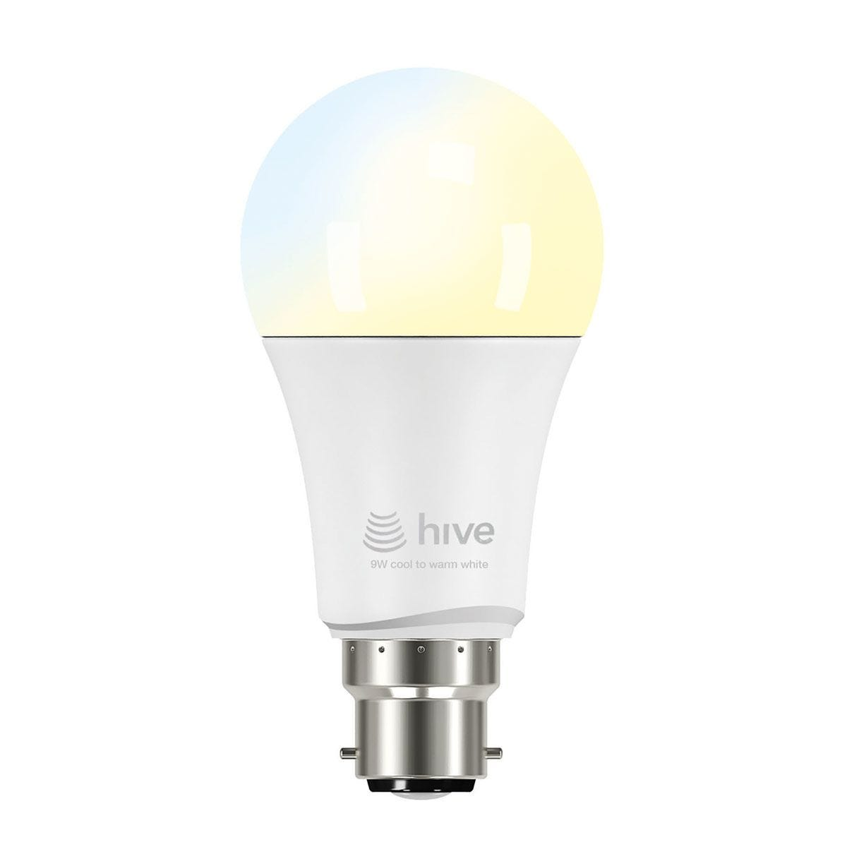 Hive Active Light 9W Bayonet Bulb - Cool to Warm White