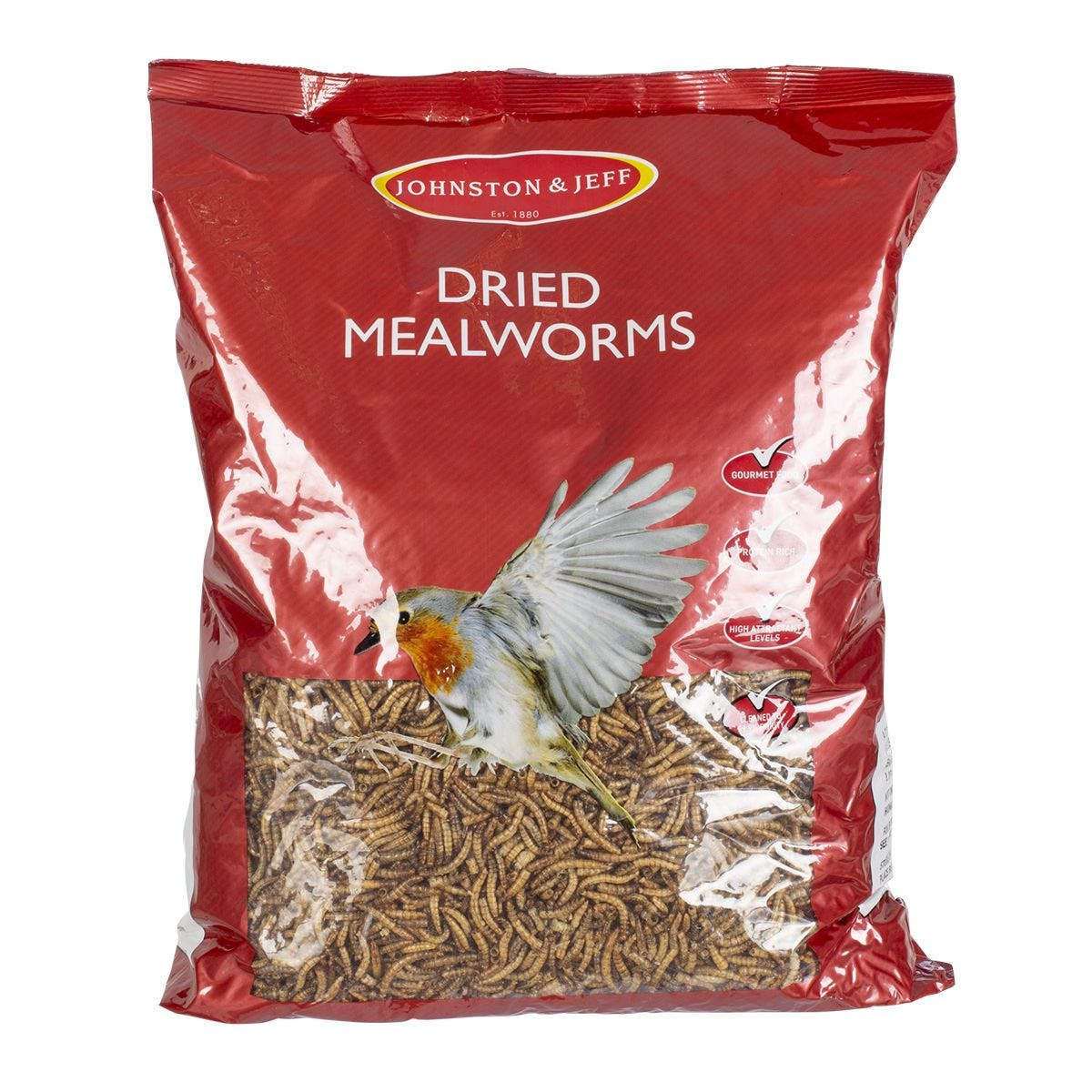 Johnston & Jeff Dried Mealworms - 1kg
