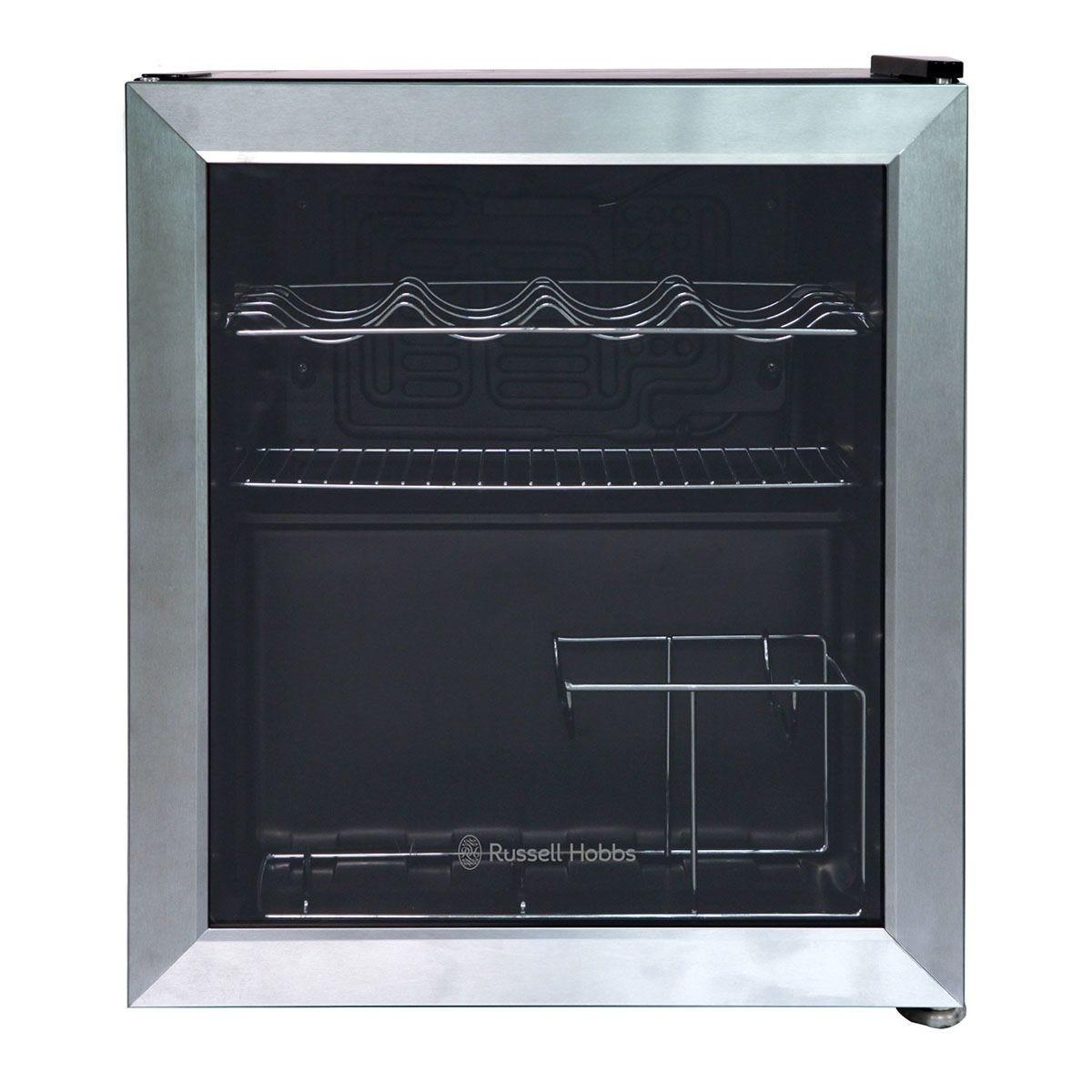 Russell Hobbs RHGWC3SS 47L Glass Door Drinks Cooler – Stainless Steel