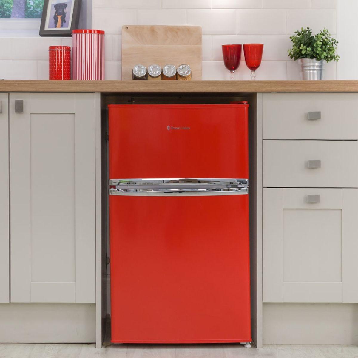 Russell Hobbs RHUCFF50R 90L Under Counter Fridge Freezer - Red