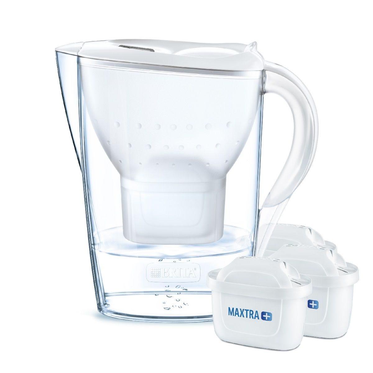 Brita Maxtra+ Marella Water Filter 2.4L Jug 3 Month Starter Pack - White