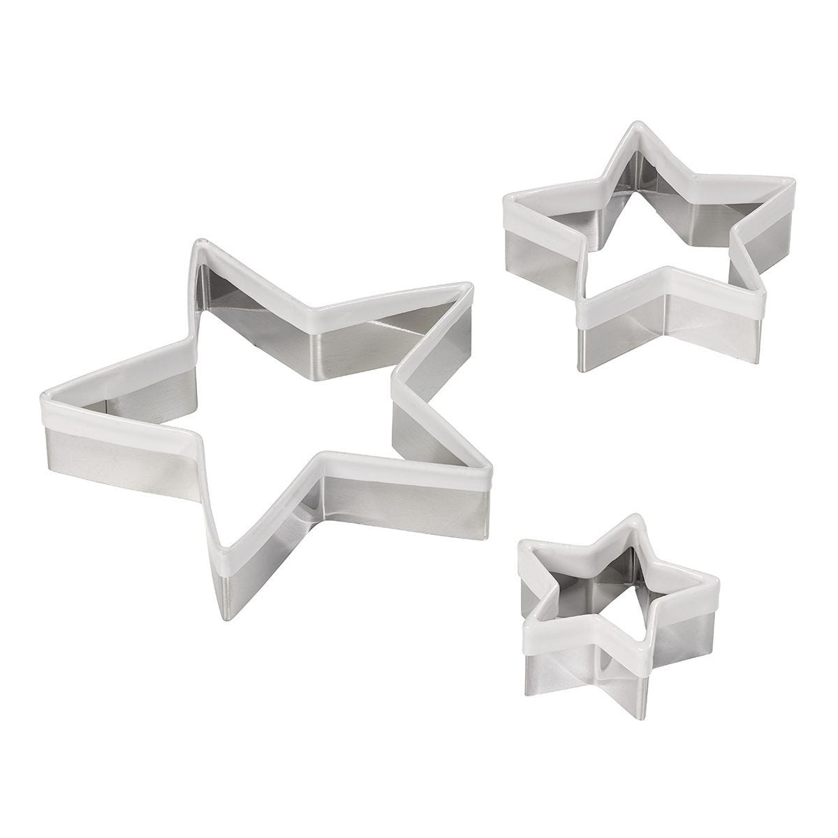 Tala Set of 3 Star Cookie Cutters - Yellow