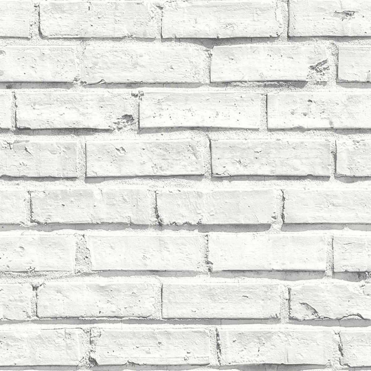 Arthouse White Brick Wallpaper