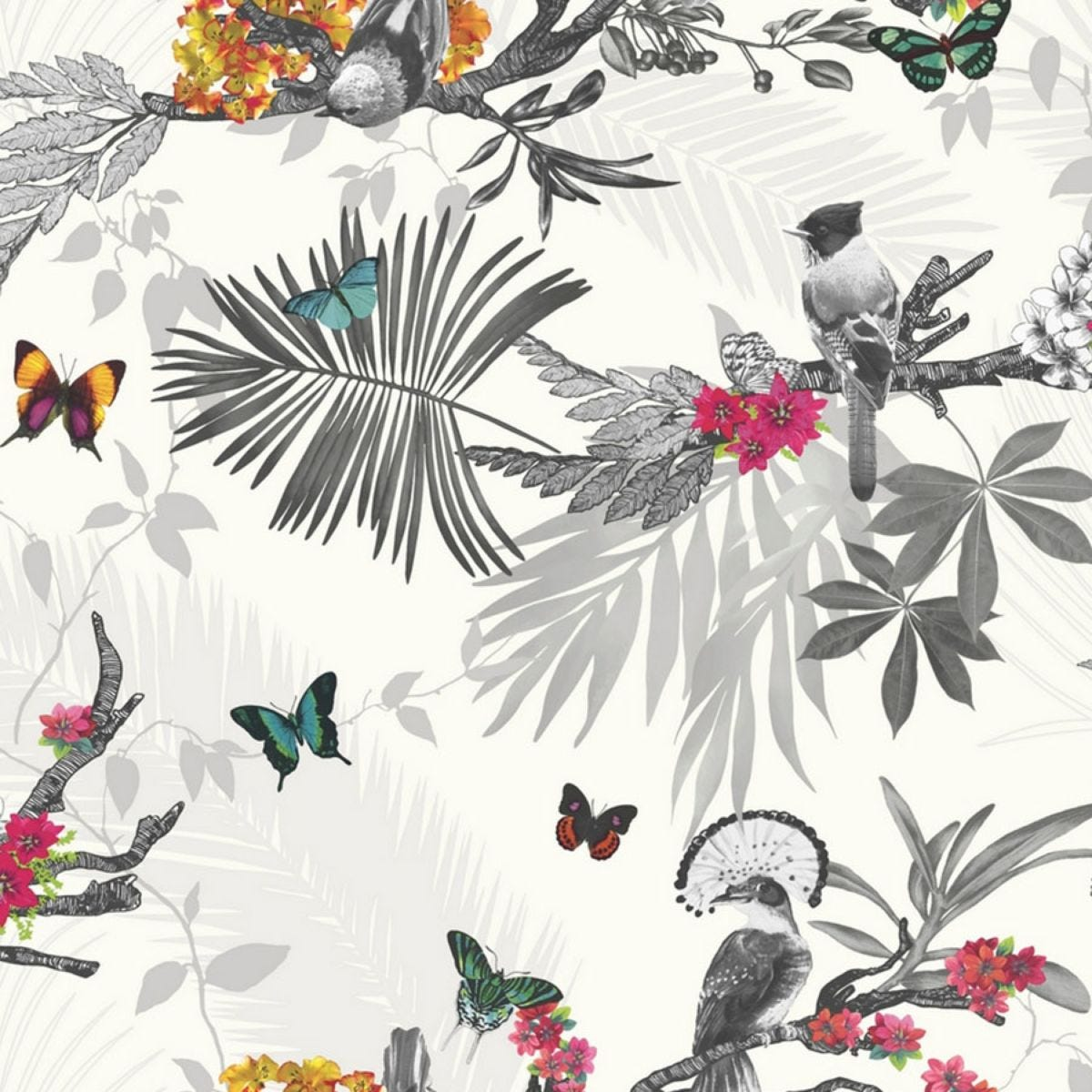 Arthouse Mystical Forest Wallpaper – White