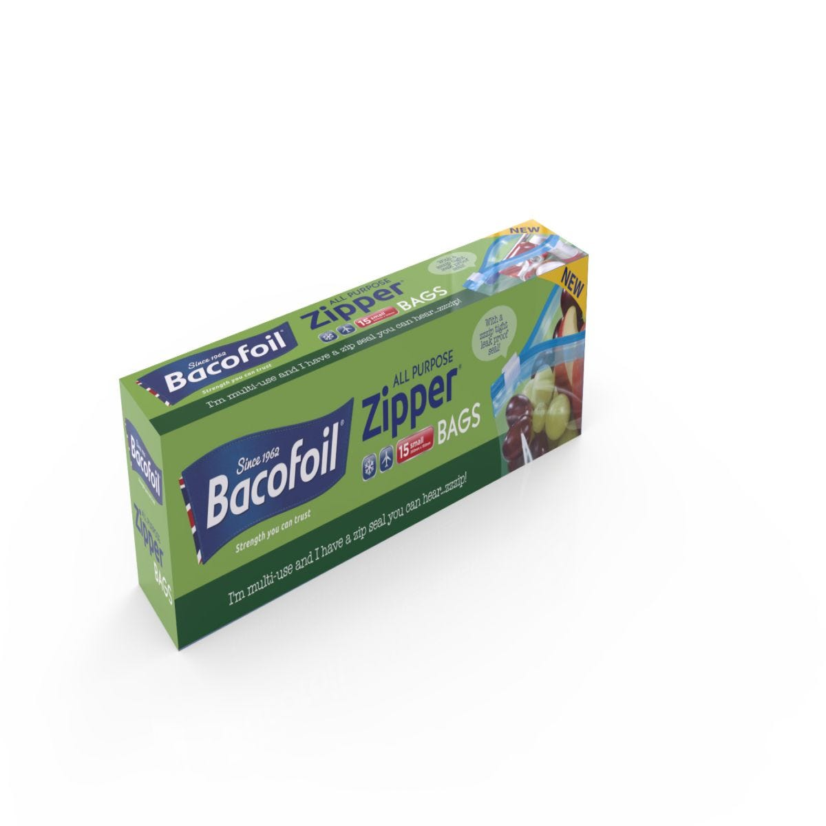 Bacofoil Small Zipper Bags - 15 Pack