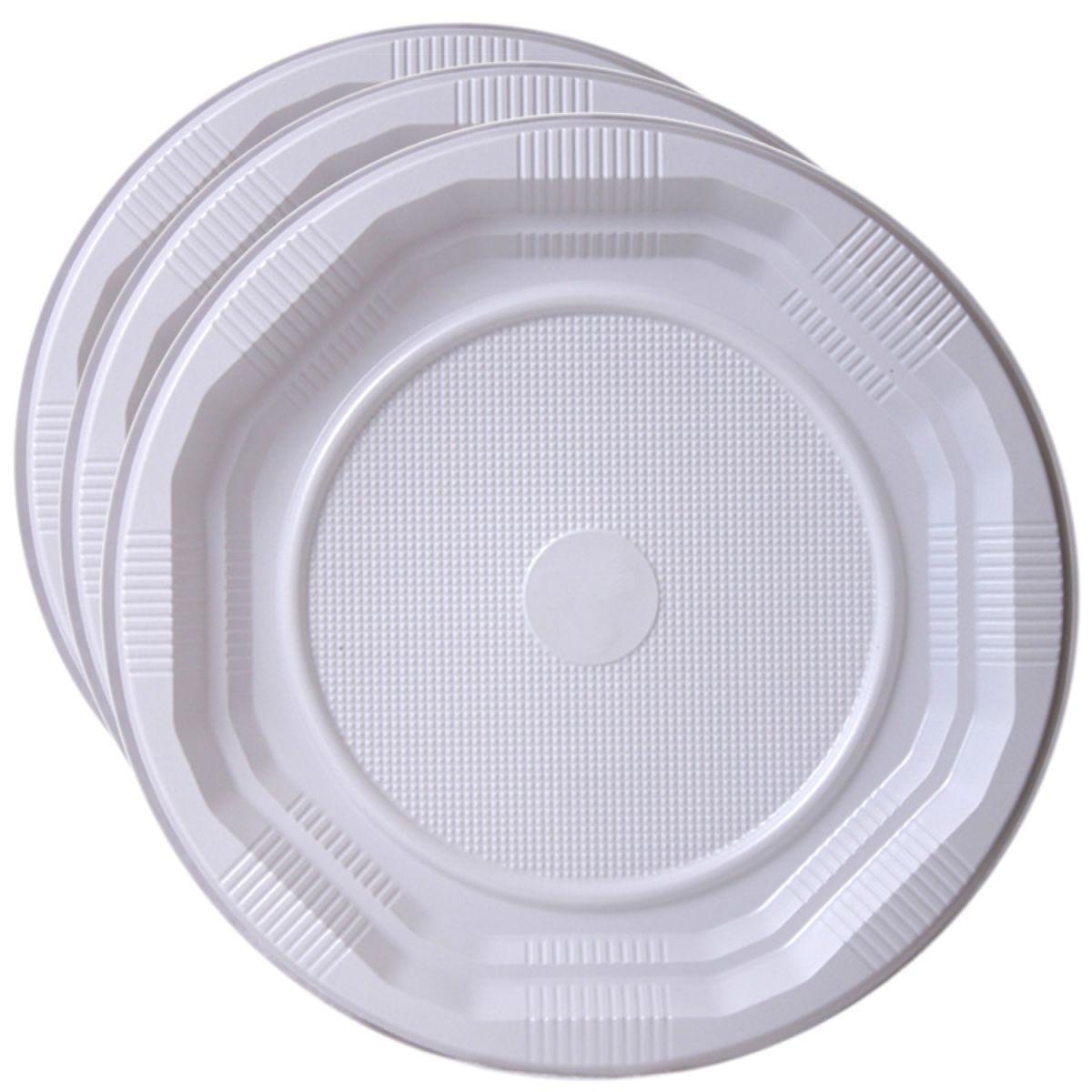 Essential Housewares Disposable Plastic Plates - 25 Pack