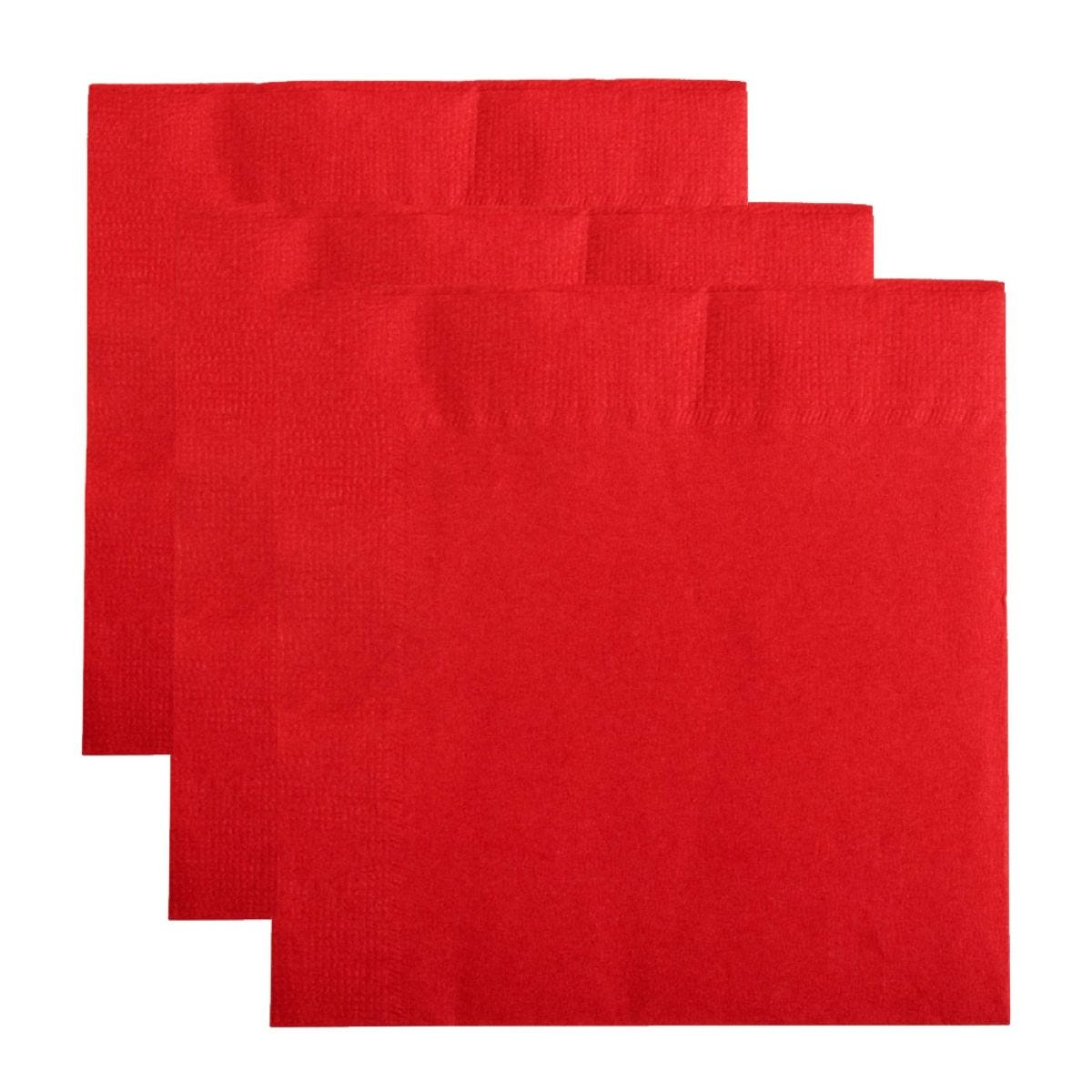 Essential Housewares Paloma 2-Ply Red Paper Napkins 40x40cm - 50 Pack