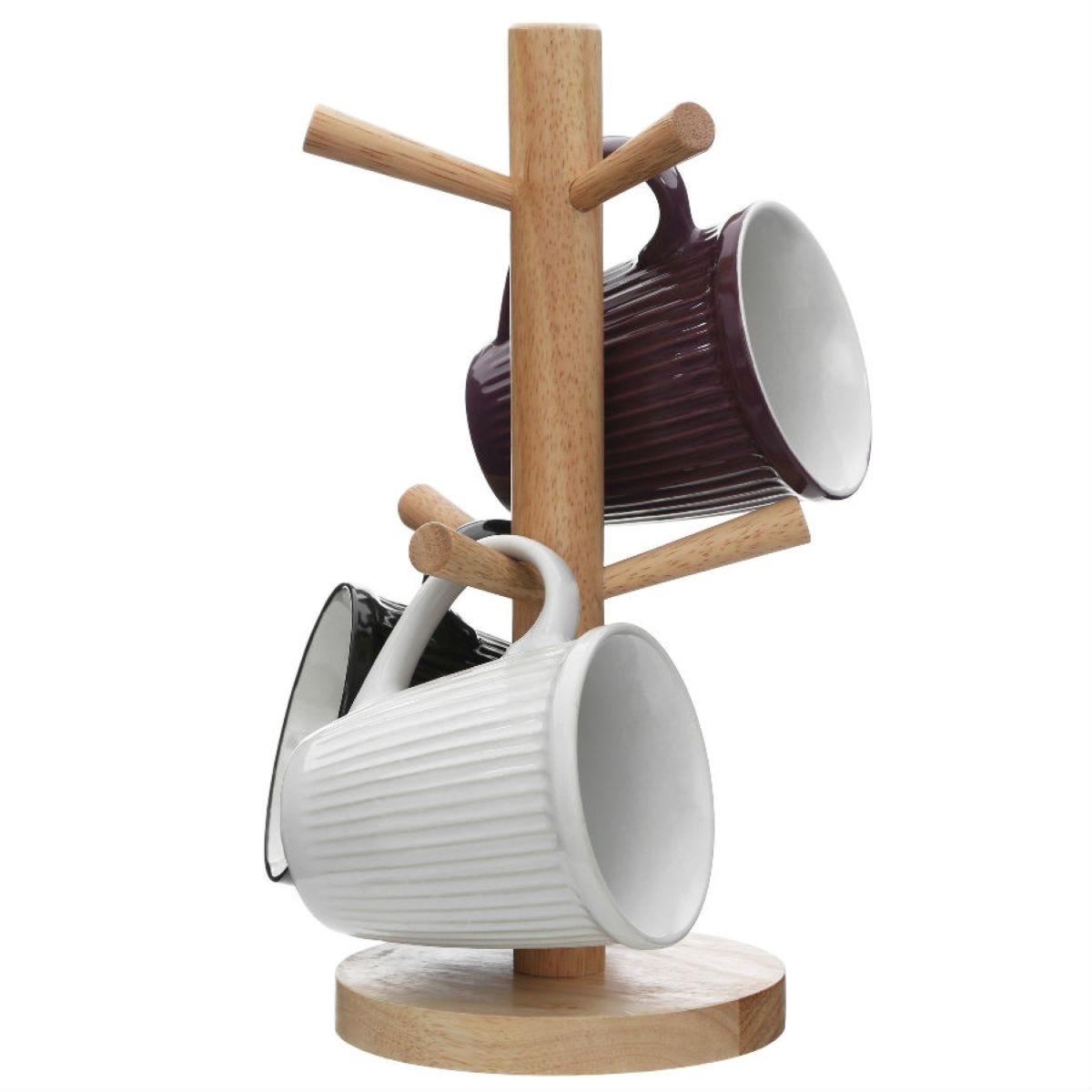 Premier Housewares 6-Cup Wooden Mug Tree