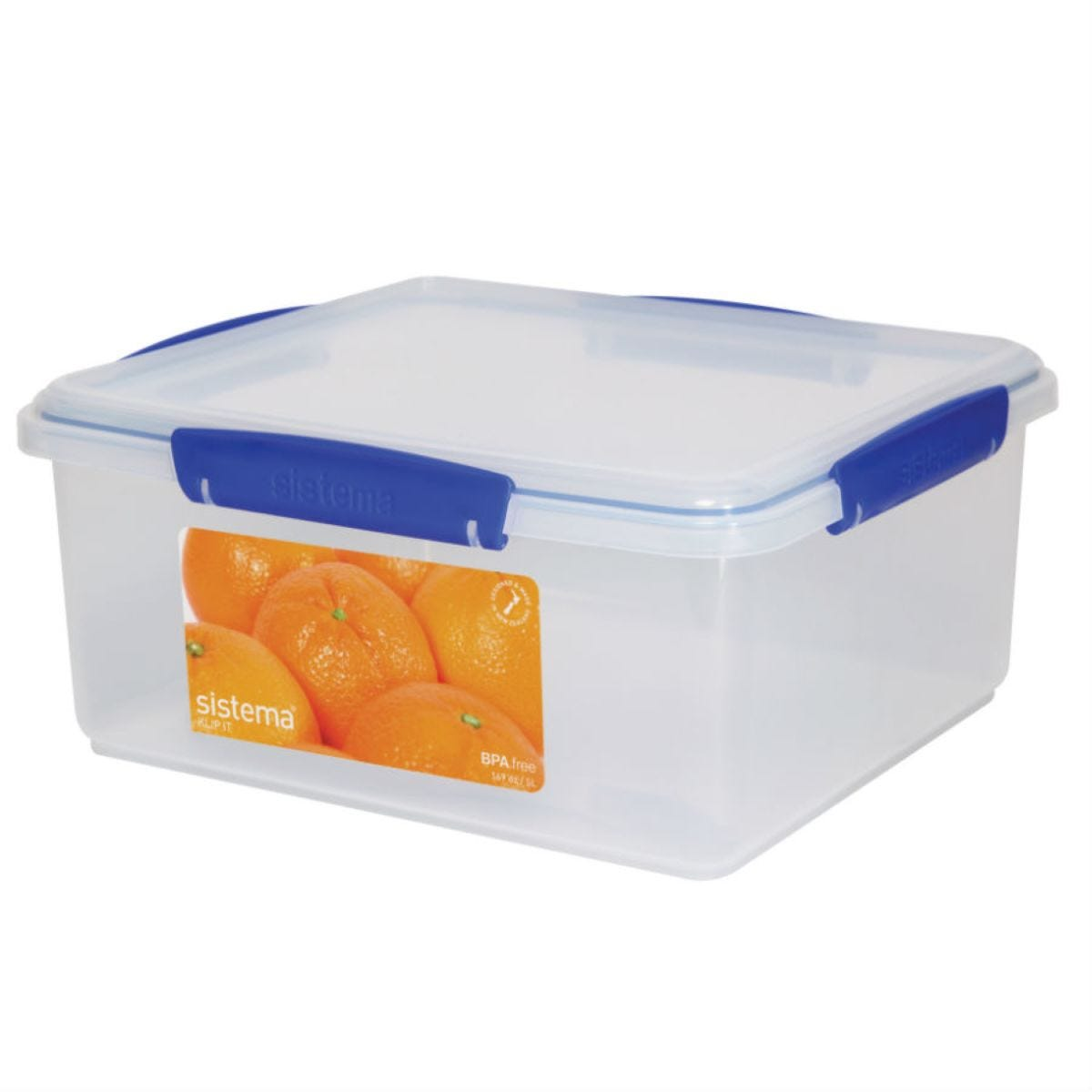 Sistema 5L Rectangular KLIP IT Stackable Food Storage Container