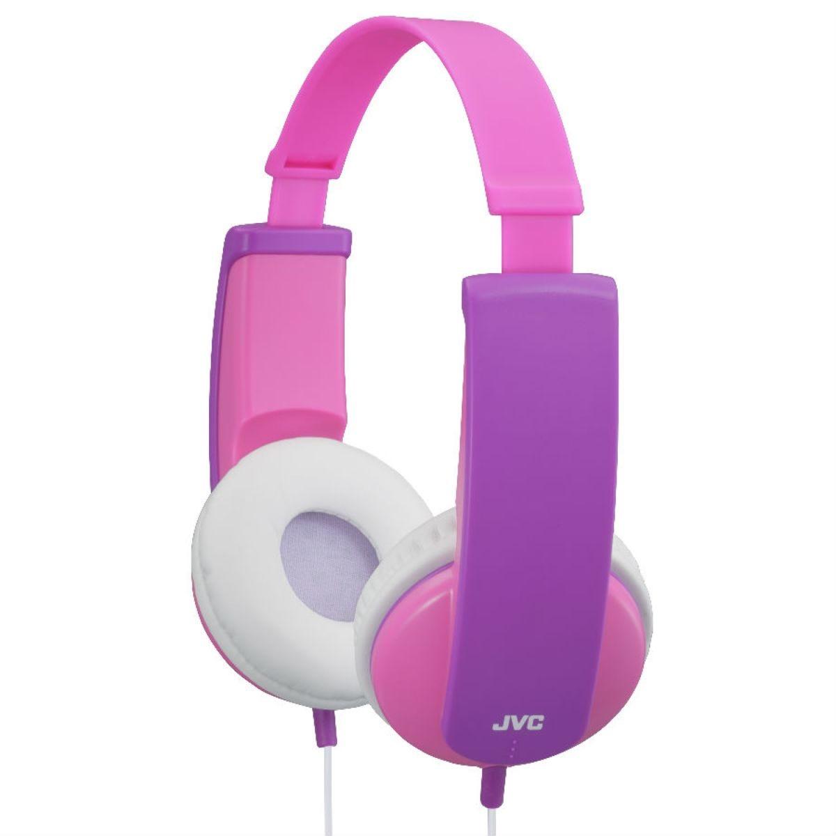 JVC HA-KD5 Kids On-Ear Headphones - Pink/Purple
