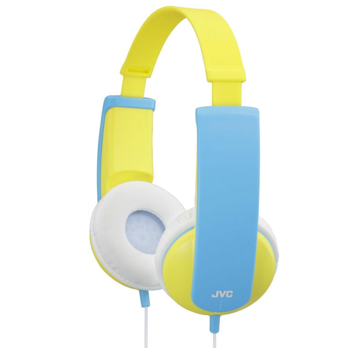 JVC HA-KD5 Kids On-Ear Headphones - Yellow/Blue