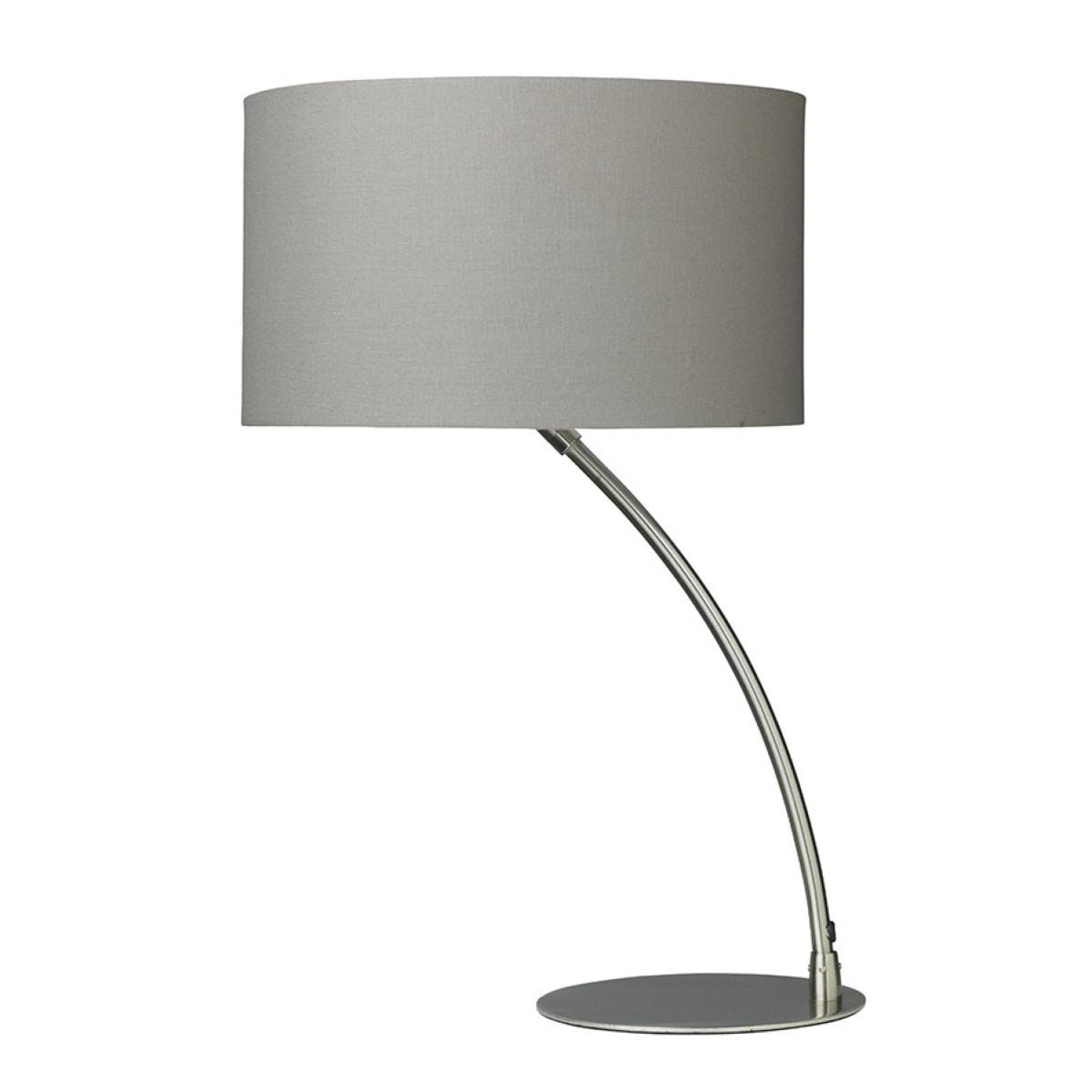 Village At Home Curve Table Lamp - Grey