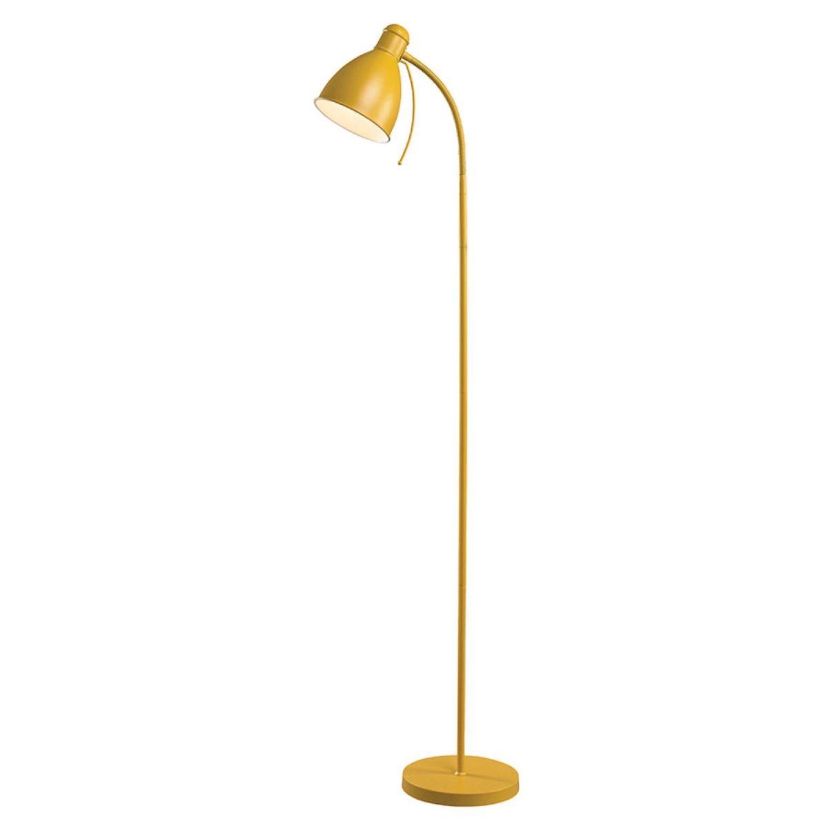 Village At Home Sven Floor Lamp - Ochre Yellow