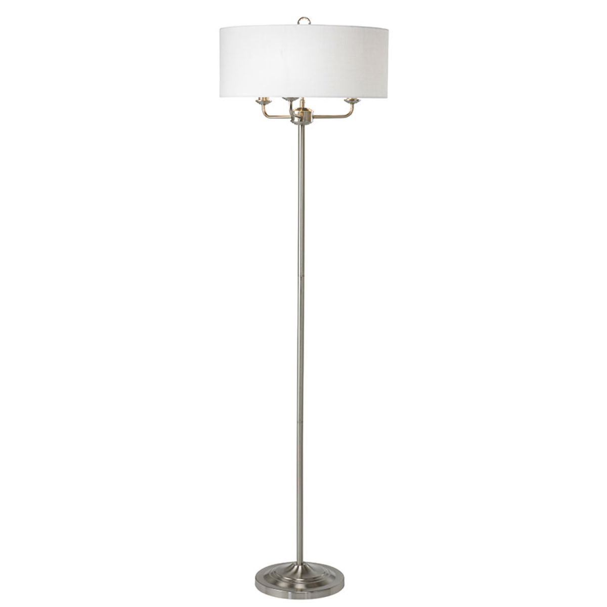 Village At Home Grantham Floor Lamp - Nickel