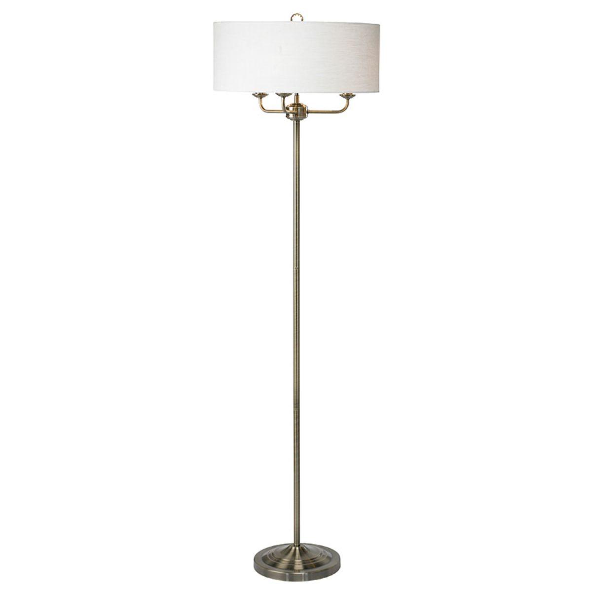 Village At Home Grantham Floor Lamp - Brass