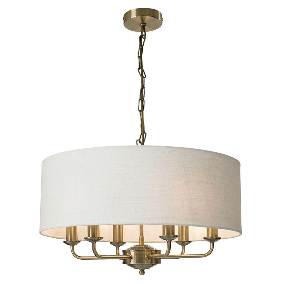 Village At Home Grantham 6-Light Ceiling Light - Brass