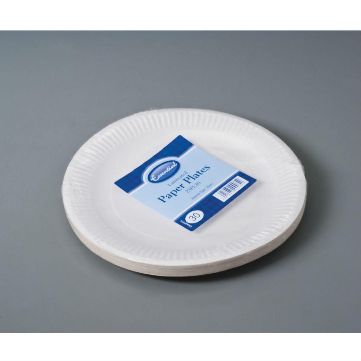 Essential Housewares Biodegradable Paper Plates - 30 Pack