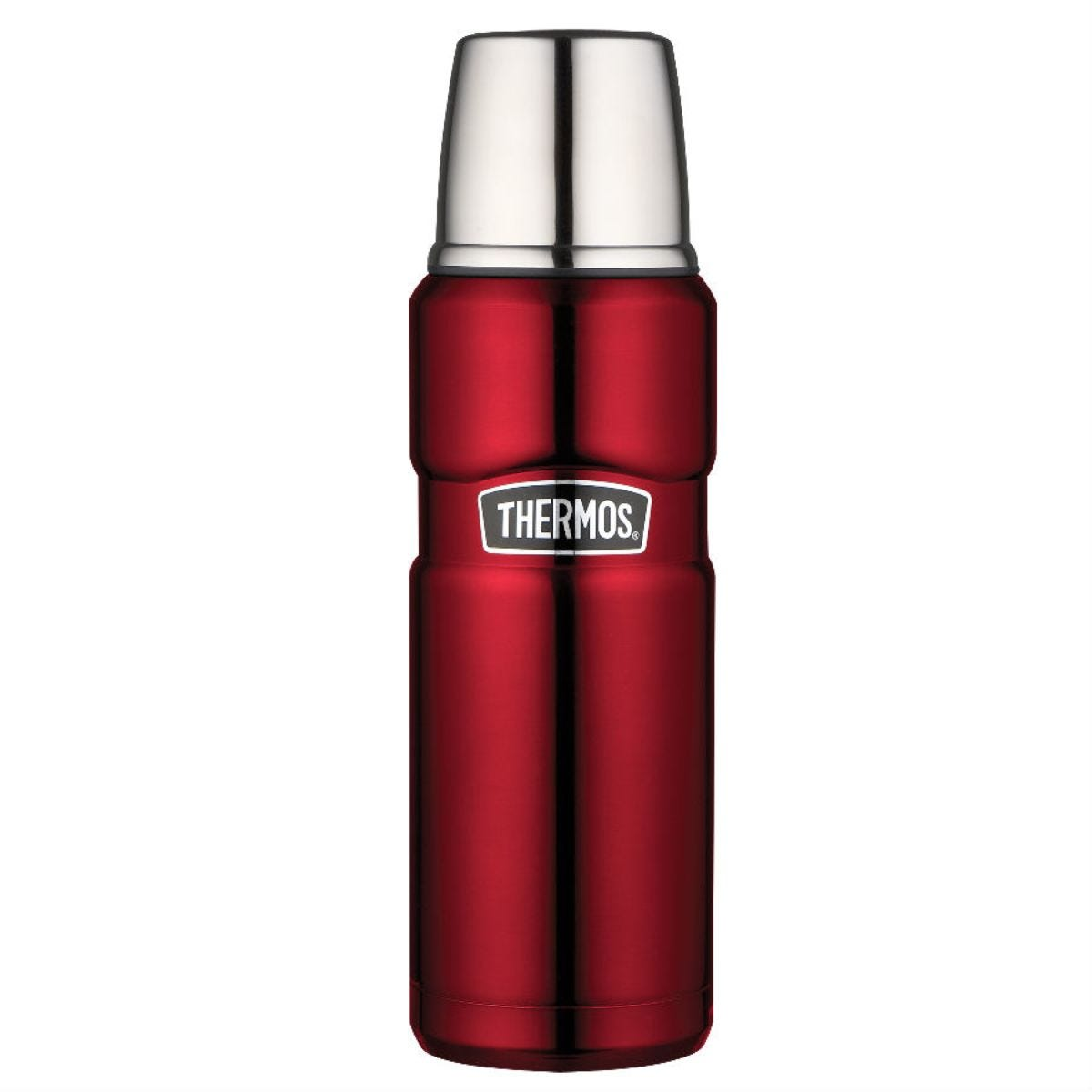 Thermos 470ml Stainless Steel Flask - Red
