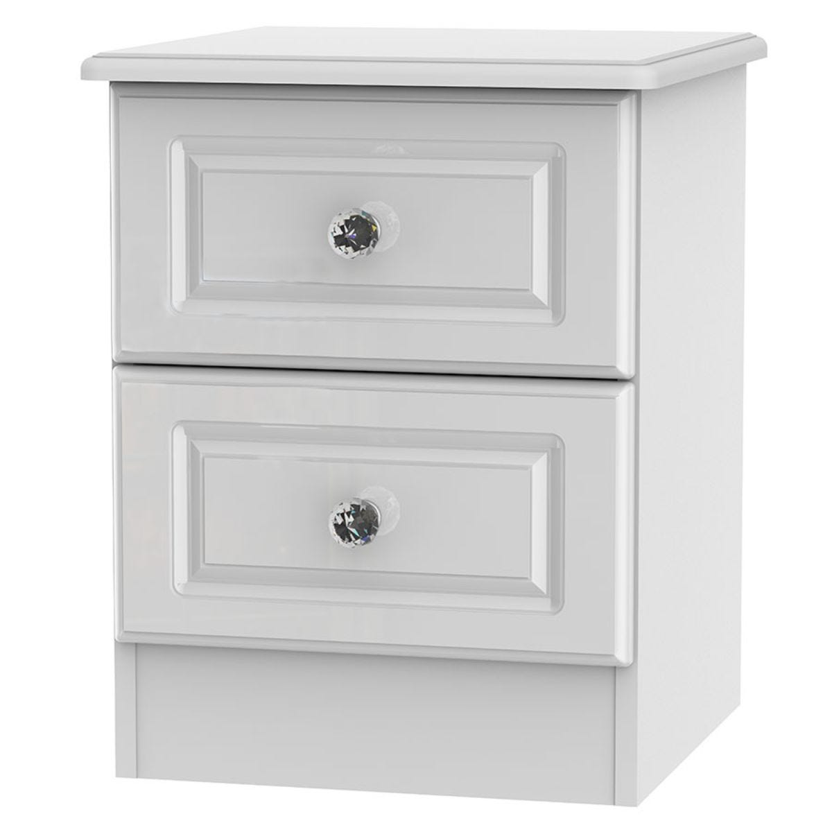 Berryfield 2-Drawer Bedside Table - White