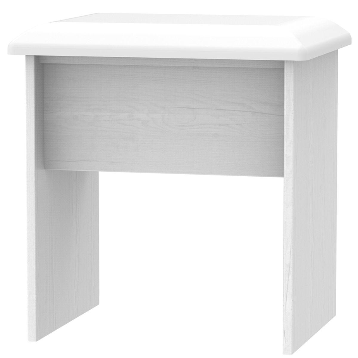 Otega Dressing Table Stool - White