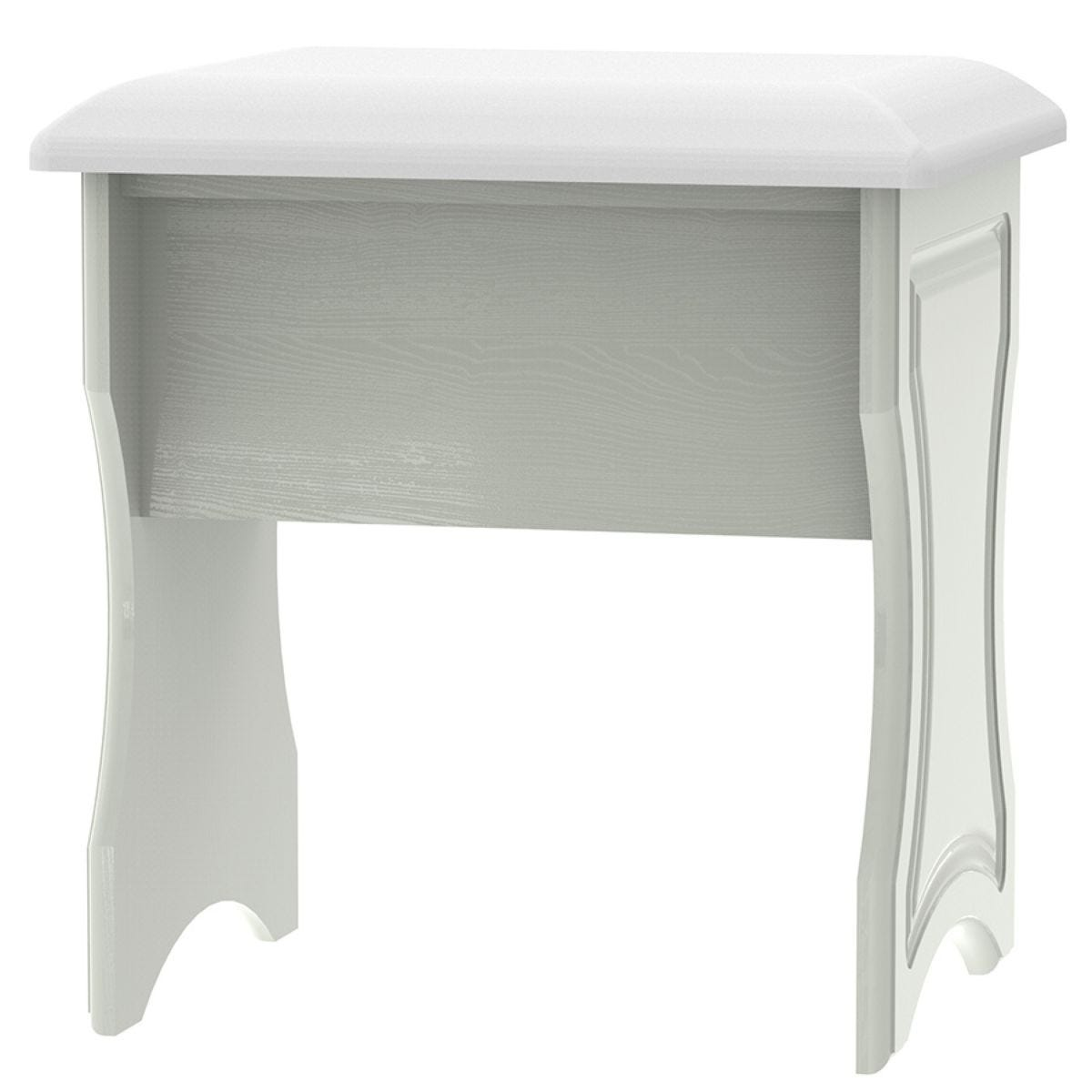 Montego Dressing Table Stool - Ash Grey