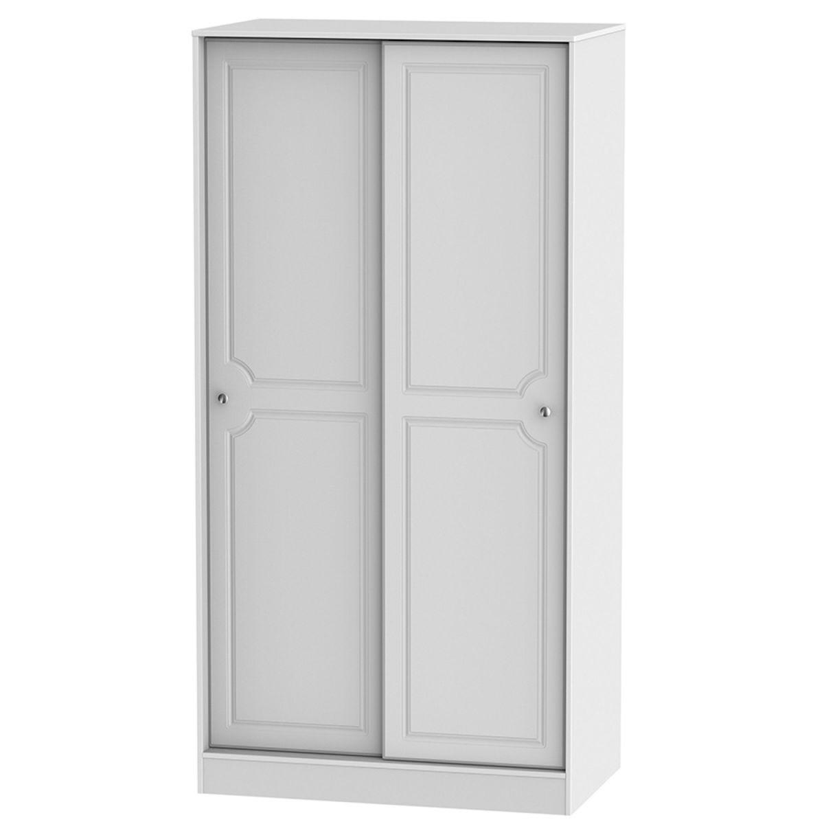 Montego 2-Door Sliding Wardrobe - White