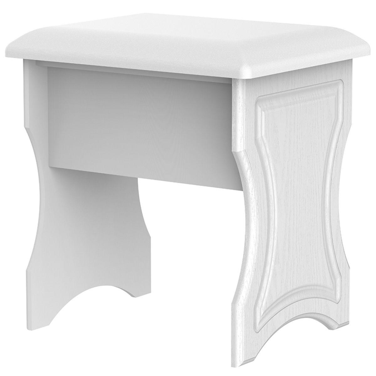 Montego Dressing Table Stool - White