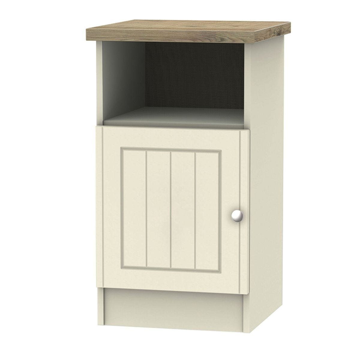 Wilcox 1-Door Bedside Table - Cream Ash