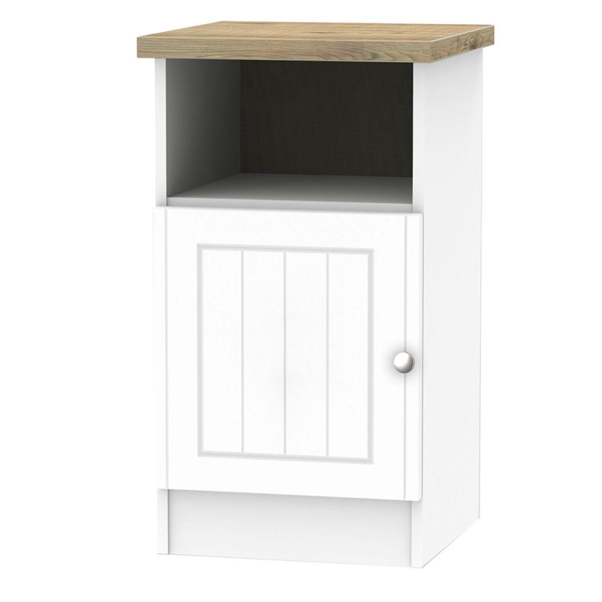 Wilcox 1-Door Bedside Table - Porcelain Ash