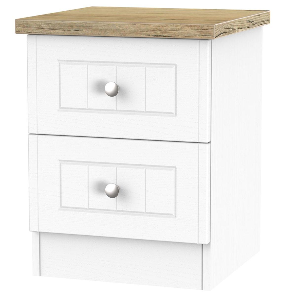 Wilcox 2-Drawer Bedside Table - Porcelain Ash
