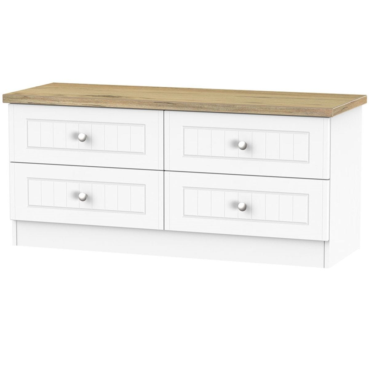 Wilcox 4-Drawer Midi Chest of Drawers - Porcelain Ash