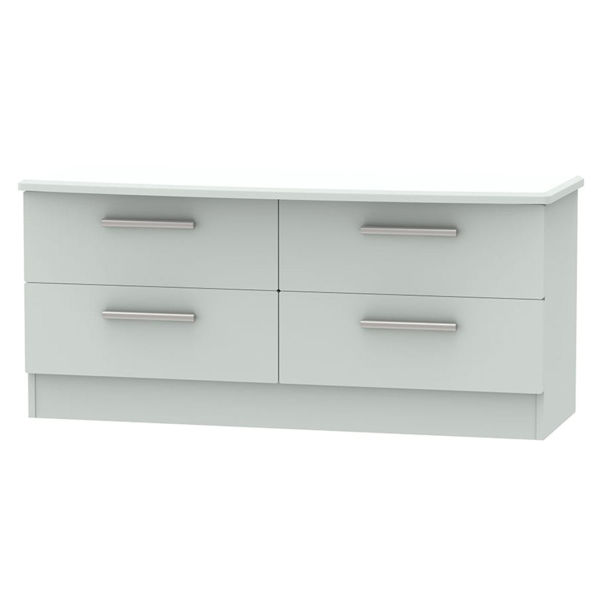 Fourisse 4-Drawer Midi Chest of Drawers - Grey